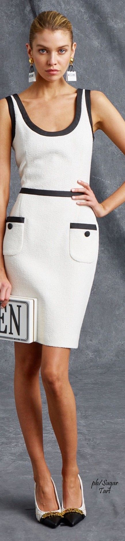 Moschino Resort 2016 White suit. Elegant formal women fashion outfit clothing style apparel @roressclothes closet ideas