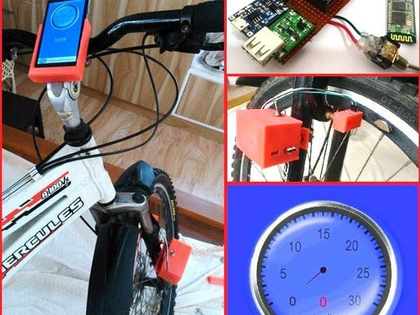 Make a cool speedometer for bikes or any automotive by using Arduino, Bluetooth, and an Android Application. By user334153146.