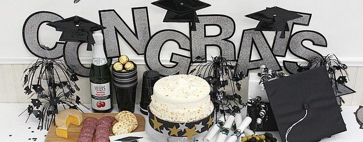 outdoor graduation party decorating ideas | graduation party decorations graduation cupcake and cake decorations ...