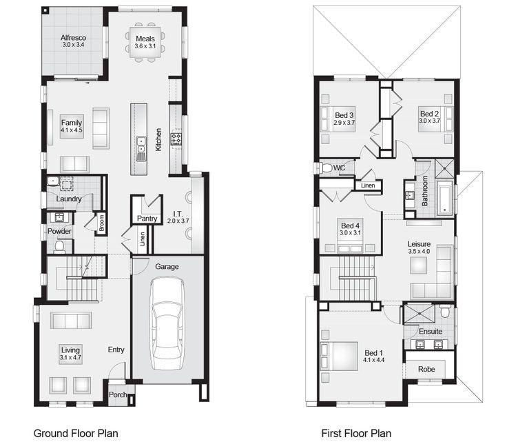 Ariel 27    Floor Plan - 256.10sqm, 8.50m width, 19.40m depth    Clarendon homes