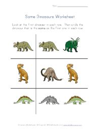 Dinosaur worksheets...printable also a lot of great worksheets for teaching on this website! Love it!