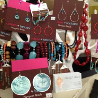 Jewelry by my dear friend, Colleen Taricani, at Shirley's Heart on Balboa Island