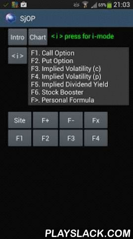 """Call Put Option Calculator  Android App - playslack.com , This """"calculator"""" offers tools, to calculate """"call"""" and """"put"""" option premiums, implied volatility, dividend-yield and a """"Stock Booster"""" program. The app also makes it possible to add personal formula's (in every field) to the list of tools.The app supports the supply of market prices on the web during calculation.Info is provided at button level with the option of translation."""