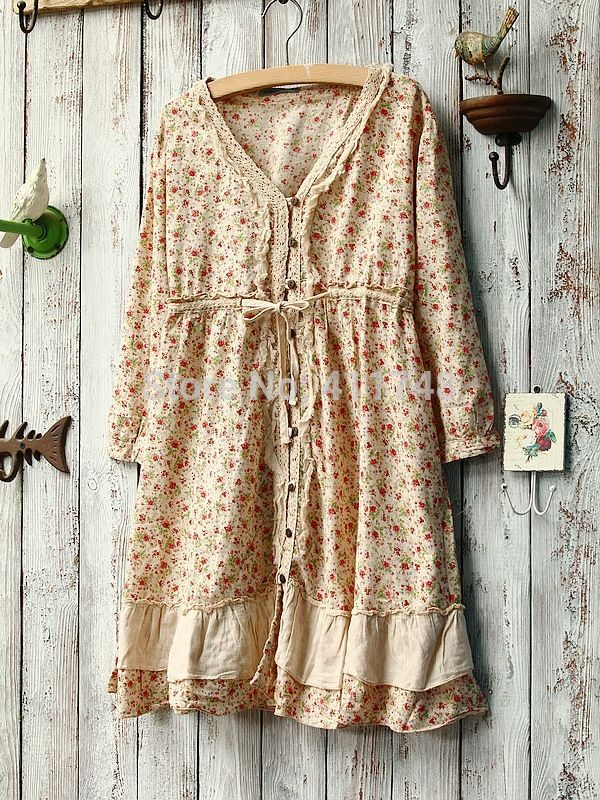 Find More Dresses Information about Lolita Dress Autumn Mori girl cotton floral dress loose long sleeve winter dress mulheres vestido women desigual brandy melville,High Quality Dresses from Say-Buy Discount Store  on Aliexpress.com