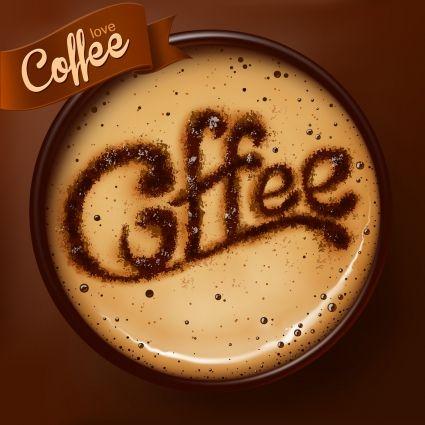 romantic coffee labels design vector