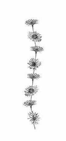 Make it a little more sunflowery and this would look so cool up the spine