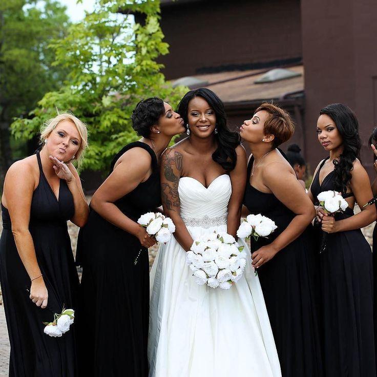 Black and White Wedding Bridal Party – fashion dresses