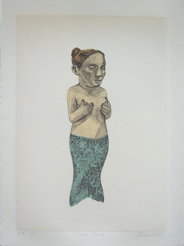 Claudette Schreuders, 'Lady Luck', Six colour lithograph, Edition size: 35, 38 x 28 cm, 2007.