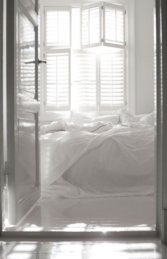 all white everything #bedroom #home