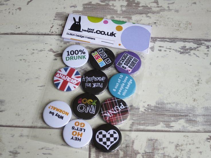Music & British punk themed badges – imagination