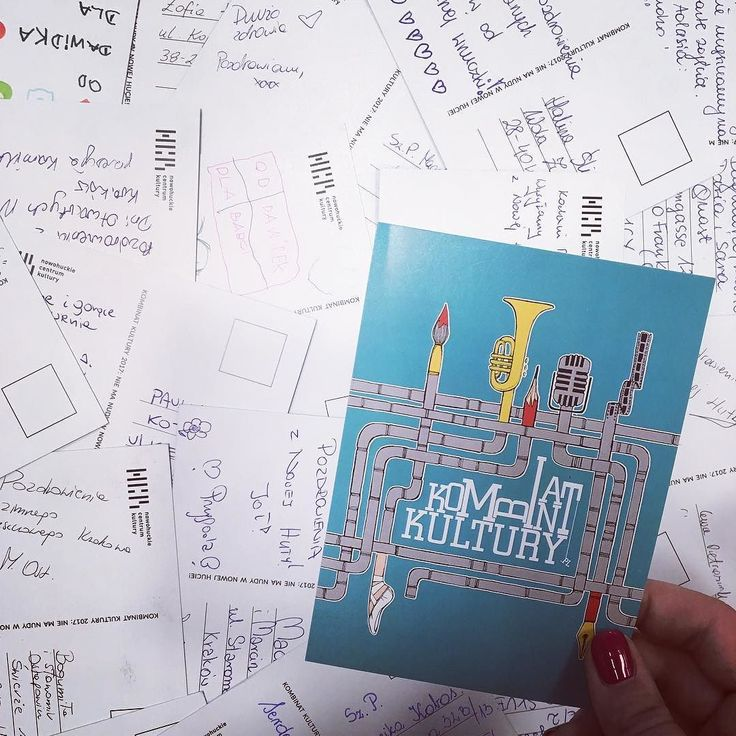 Wasze kombinatowe pocztówki poleciały już w świat mamy nadzieję ze sprawia duuużo radości adresatom! #encek #kulturakrk #pocztowka #kombinatkultury2017 #poczta #snailmail #postcard #nowahuta #nh