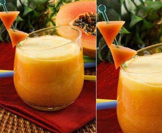 Receita Nectar de Papaia e Laranja
