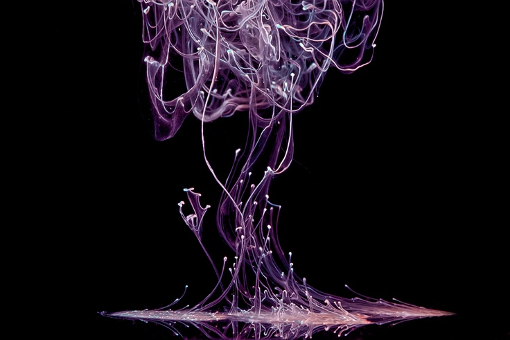 Dreamy Cream   LiquidArt by Markus Reugels,   Another, simpler, photographic technique involves dripping milk or cream into water to create dreamy images like this one.