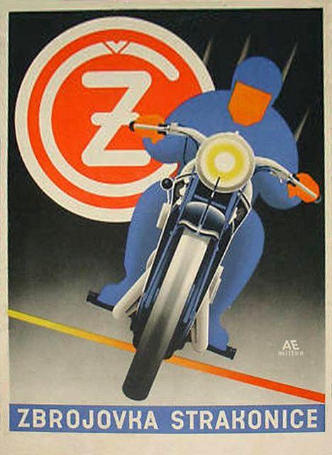 1950's CZ Czech Motorcycle