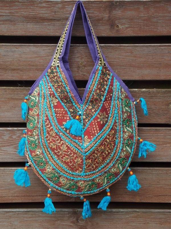 Hippie Deluxe Turkoois | Luxe hippie tassen | Trendy Trading Company. €39,95