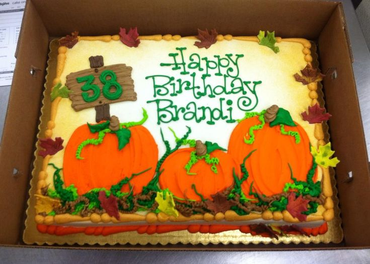 Pumpkin theme sheet cake, by Stephanie Dillon, LS1 Hy-Vee