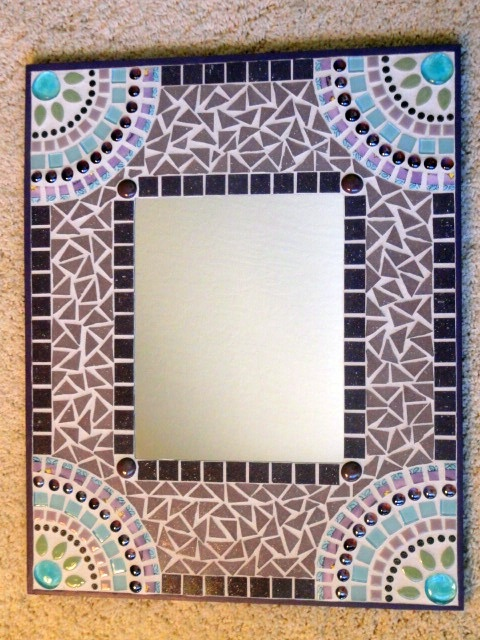 Custom hand-made mosaic mirror I had made for the baby's room - OBSESSED! Here is her Etsy shop: http://www.etsy.com/shop/memoriesinmosaics?ref=shop_sugg