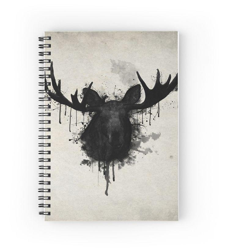 Moose by Nicklas Gustafsson  #moose #elk #deer #antlers #animal #notebook