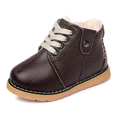 Leather Boy 'Flat Heel komfort Ankel Boots med Magic Tape sko (flere farger) – NOK kr. 109