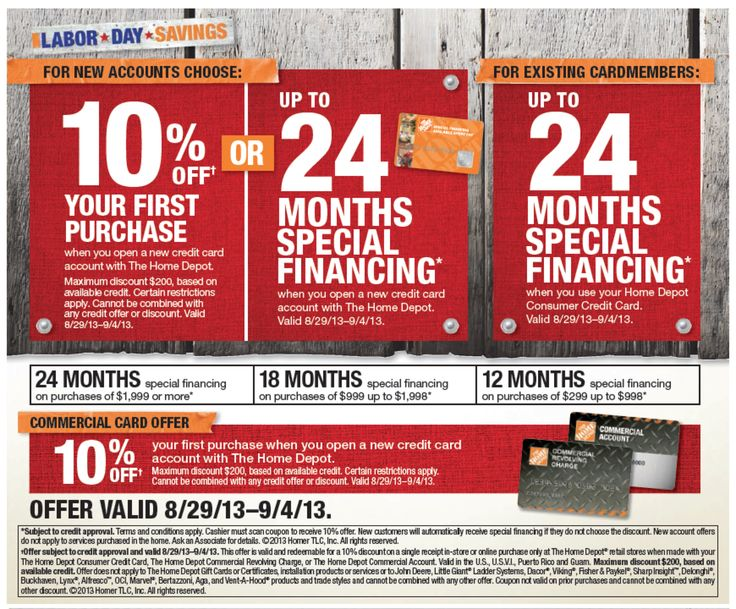 The Home Depot Has A Special Financing Offer For Labor Day Weekend  Shopping. This Promotion Makes It A Great Time To Buy Your New Shutters,  Shades Blinds!