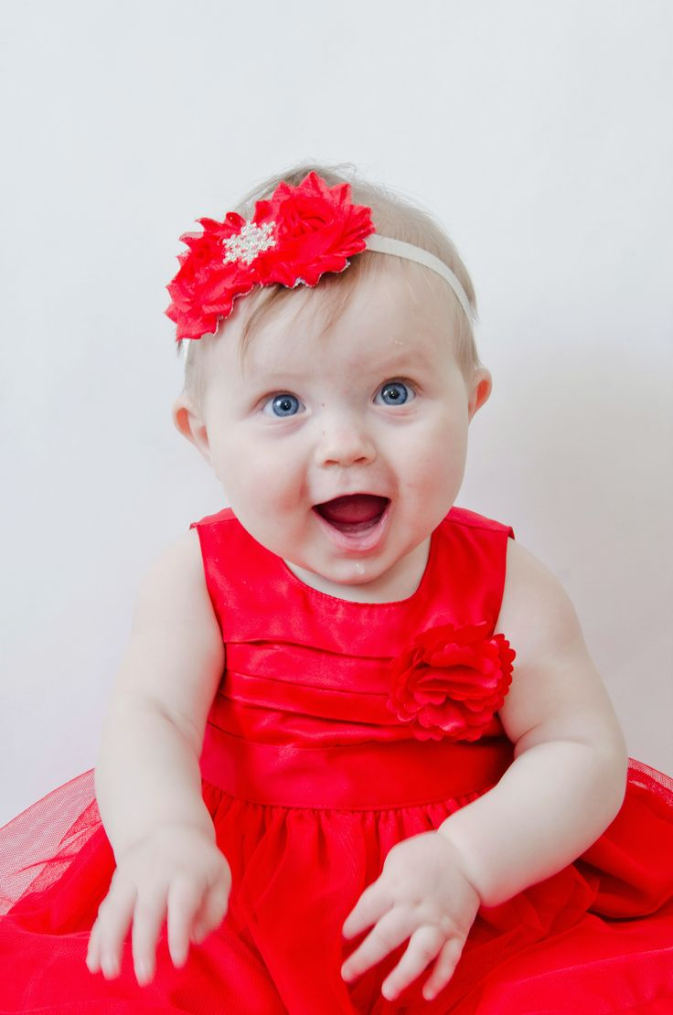 Christmas Dress! Blue Eyed Baby