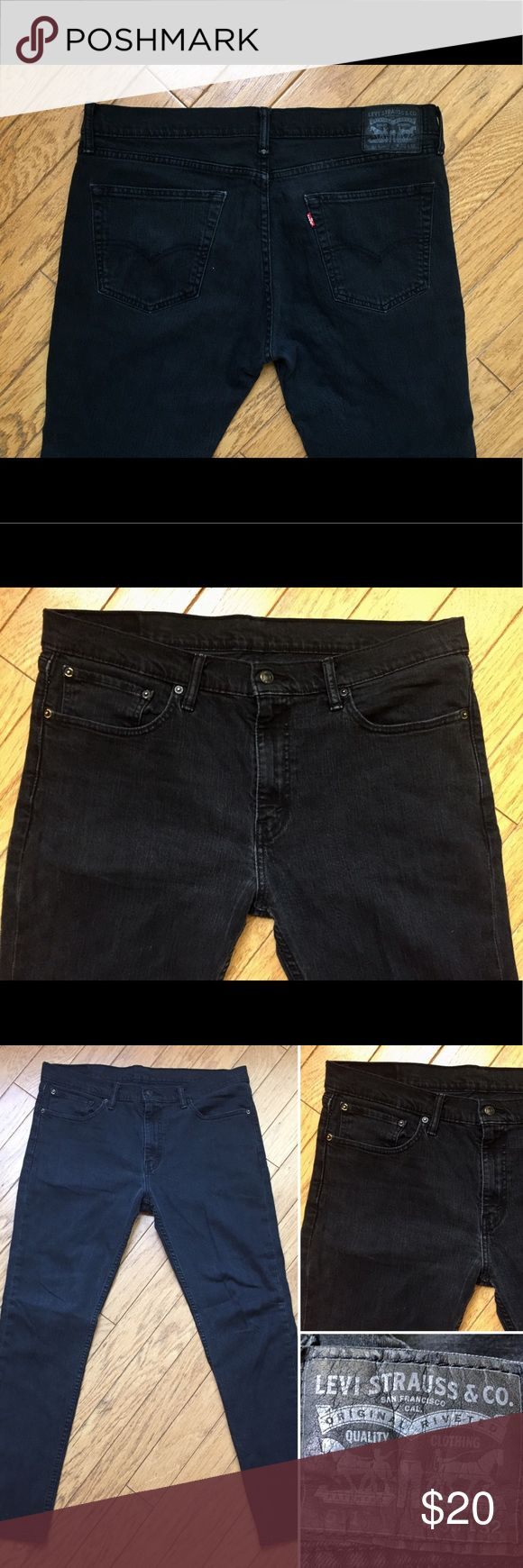 Levi's 511 Slim Fit Black Denim Men's Jeans Levi's 511 Slim Fit - men's regular size 36 waist x 32 inseam / length. Completely black denim jeans. Excellent condition, no flaws! JSYK - I discount all bundles ☺️ Prices negotiable, feel free to make an offer if you're interested. Levi's Jeans Slim