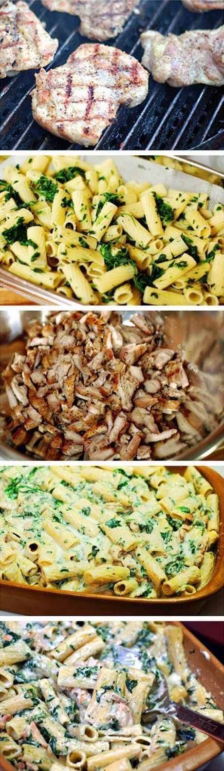 Grilled Chicken Rigatoni Florentine Recipe  (looks good but too much work??)