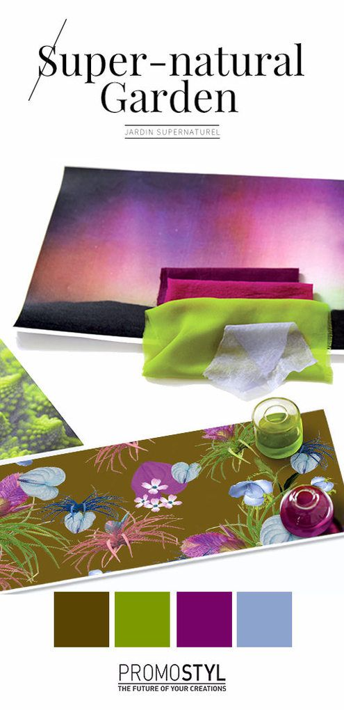 Trends : A magnetic palette of auroras and elixirs in imaginative associations of Pink Blast, Blue Steam, luxuriant moss and fractal greens. (#809549)