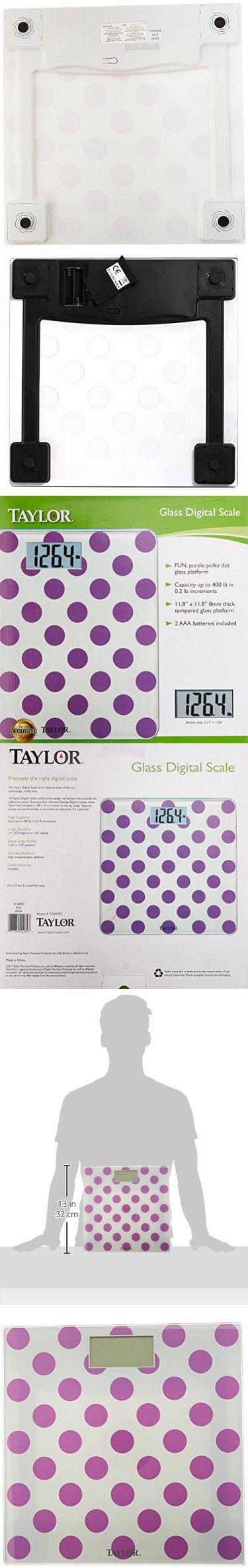 Taylor Precision Products Glass Digital Bath Scale (Polka Dots)