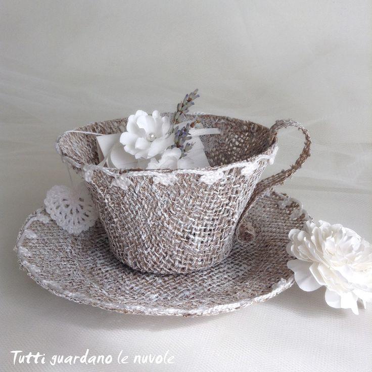 Tutti guardano le nuvole: Wedding Tea Cup Bomboniera