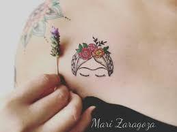 Resultado de imagen para tatuaje frida kahlo minimalista