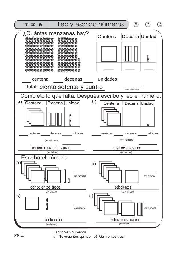 Guía De Matemáticas Para Segundo Grado Ejercicios Decenas Y Centenas Material Didactico Para Matematicas Libros De Matemáticas