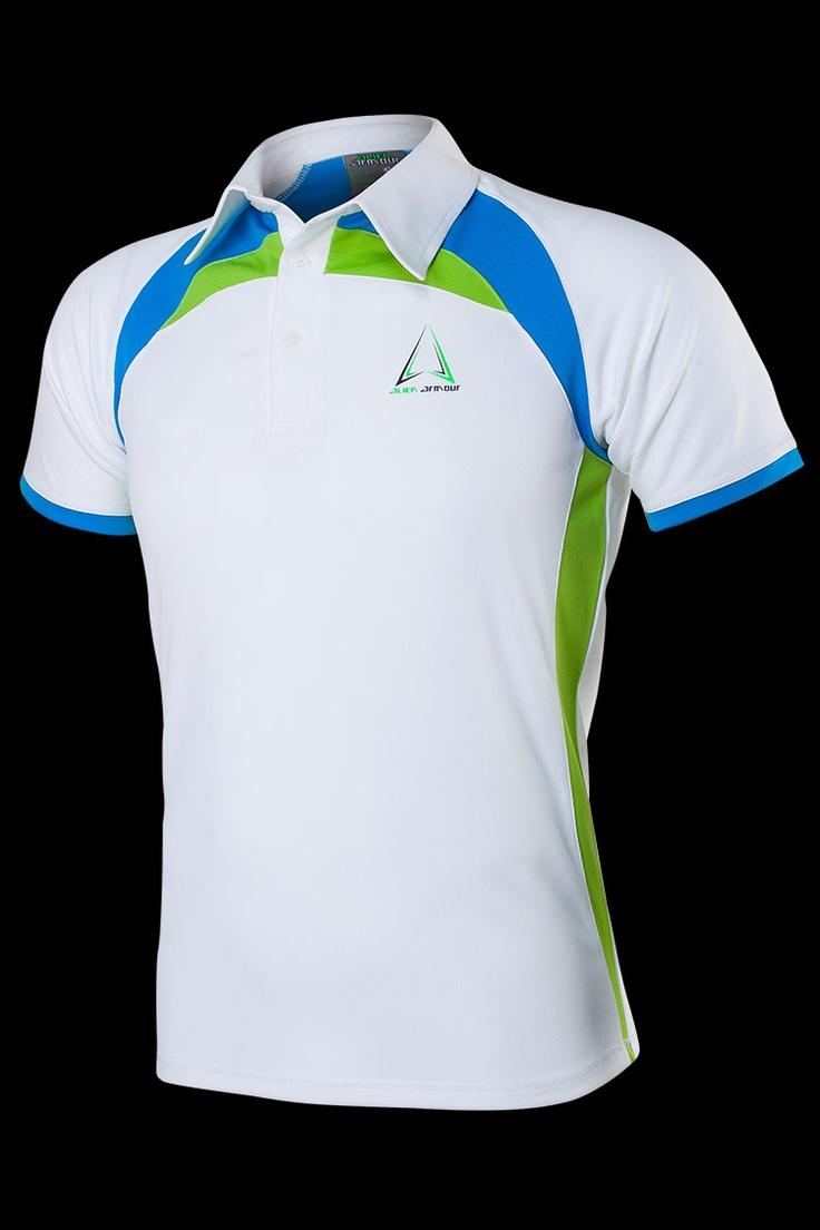 Áo thể thao Alien Armour Men's Irona II Polo T-shirt P001 - White