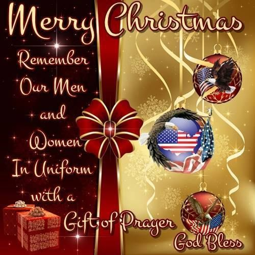 Remember Our Troops Merry Christmas