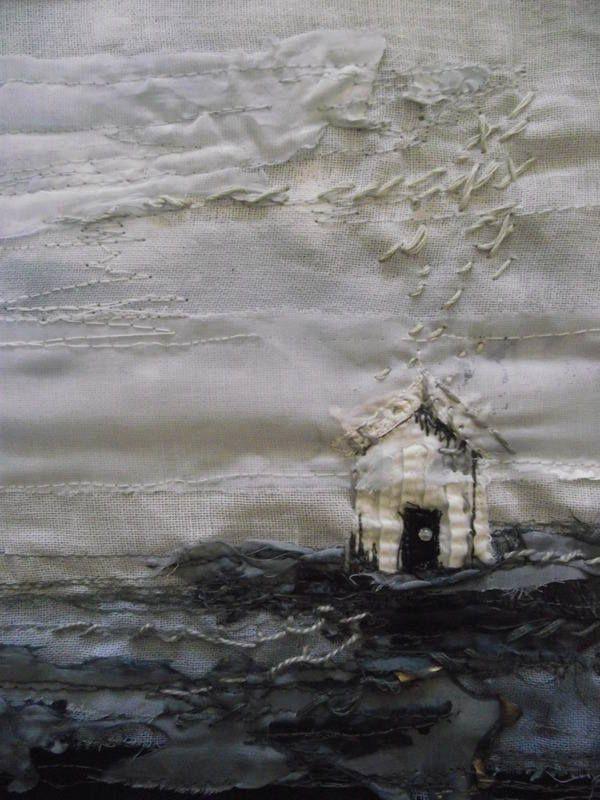 Beach Hut Rain by laura edgar