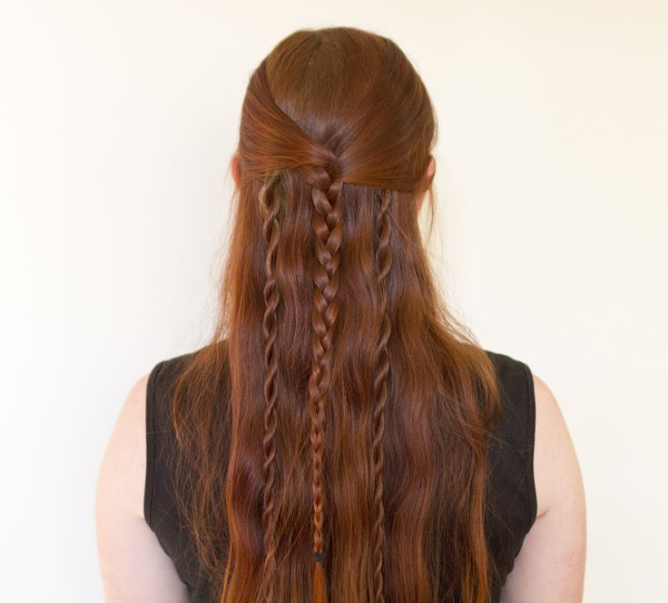 Tutorial for Rollo's long braided Vikings hairstyle