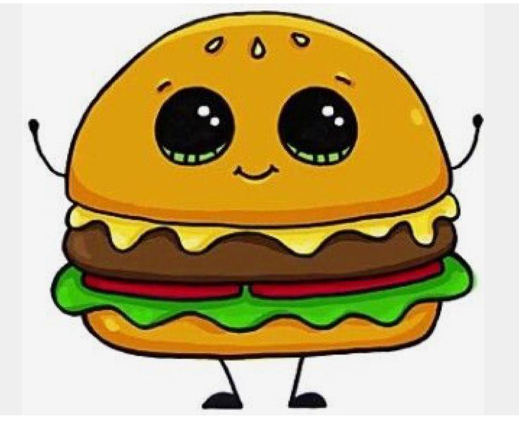 draw drawings kawaii cartoon drawing easy kresby jednoduche hamburger doodle sevimli doodles