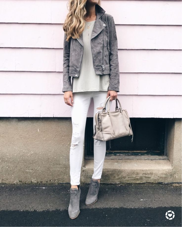 nordstrom anniversary sale tops - blank nyc suede gray moto jacket over lush swing tank on pinterestingplans