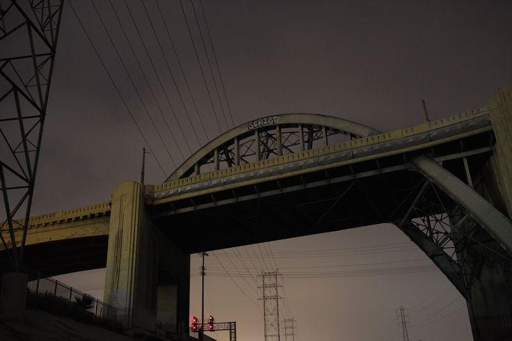 L.A. River by Tobias Hutzler. #tobiashutzler #photography #night #architecture #lariver