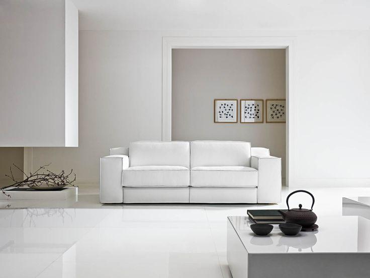 Il divano x system by samoa white bianco divani - Divano bianco pelle ...