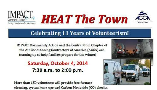 We are looking forward to helping prepare families in need for the cold weather season this weekend during the Heat the Town event!
