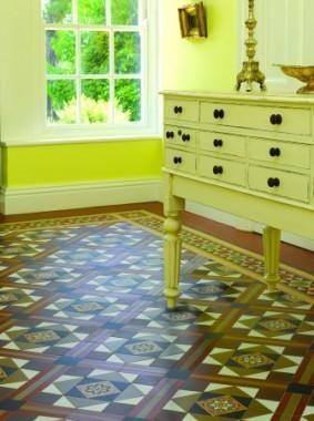 Ryan's Mozaiektegelvloer, patroon: Lindisfarne