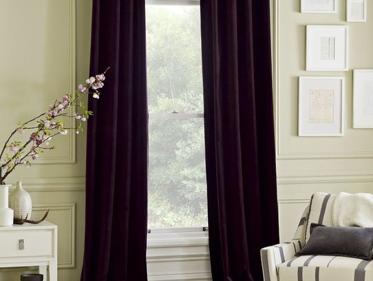 Dark Purple Velvet Curtains West Elm 100 Each These Went On Clearance So I Bought Them They