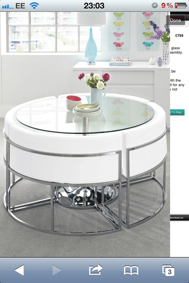 Next Space Saver Round Dining Table For The Home