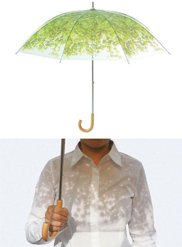 いつも木漏れ日を感じる日傘。