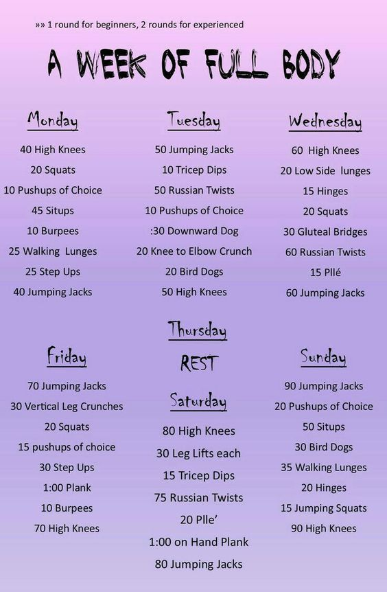 #Body #Exercises #Friday #Full #Monday #Thursday #Tuesday ...