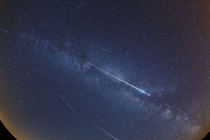 Perseid Meteors and the Milky WayShowers, Meteor Streaks, Shower 2012, 2012 Shower, Meteor Shower, Perseid Meteor, 2012 Perseid
