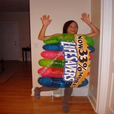 homemade halloween costumes | Coolest Homemade Lifesavers Halloween Costume 2