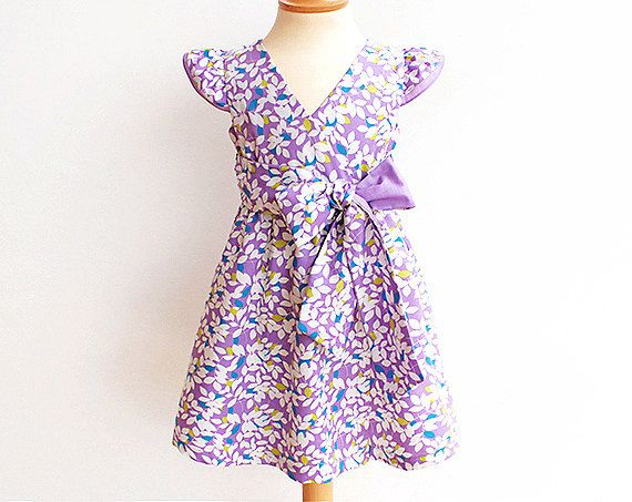 PUPERITA NEW FAIRY Girl Dress sewing pattern Pdf, Butterfly Sleeve Sundress, toddler, size 3 4 5 6 7 8 9 10 yrs Instant Download