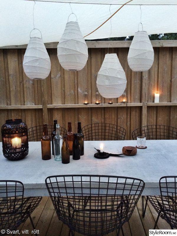 flaskor,trädäck,uteplats,altan,utemöbler
